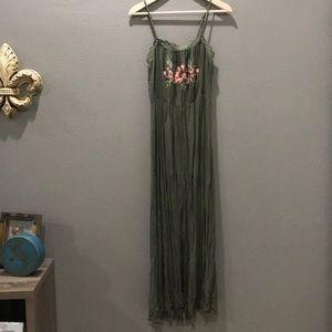 Xhilaration Embroidered Maxi Dress